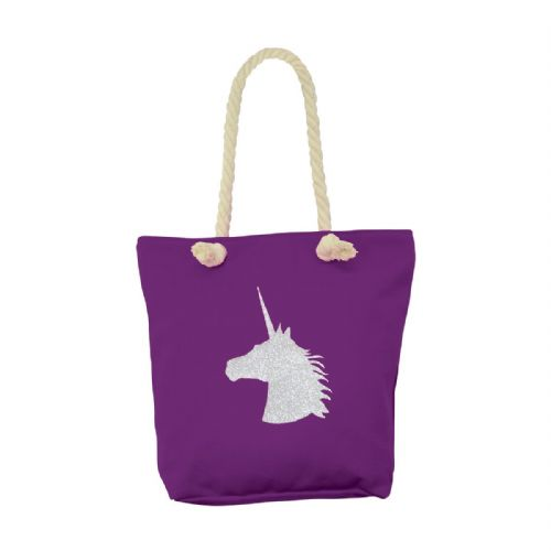 HyFASHION Unicorn Tote Bag in Purple